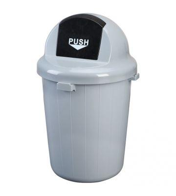 Prullenbak met pushdeksel - 60 liter
