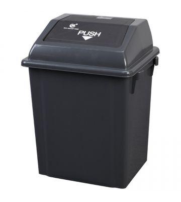 Afvalbak met pushdeksel - 60 liter