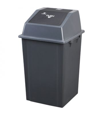 Afvalbak met pushdeksel - 100 liter