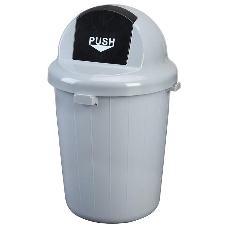 Afbeelding van Prullenbak met pushdeksel - 100 liter