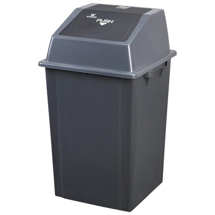 Afbeelding van Afvalbak met pushdeksel - 100 liter